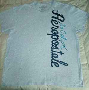 Aeropostale Grey Mens Graphic Tee (2XL) Pre-Owned